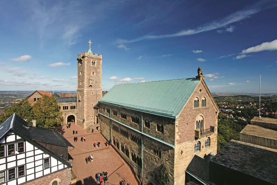 Courtyard of the Wartburg Castle © Andreas Weise, Thuringia Tourist Board