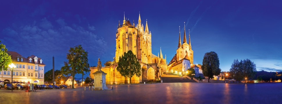 St. Mary`s Cathedral and St. Severi Church Erfurt © Thuringia Tourist Board