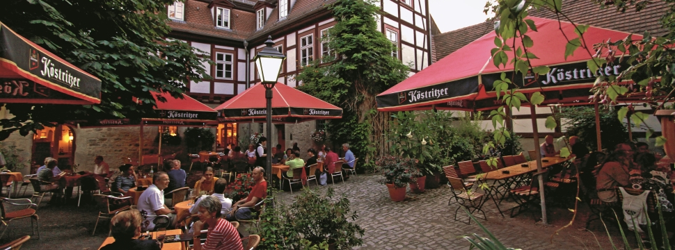 Beer garden in Erfurt © Andreas Weise, Thuringia Tourist Board