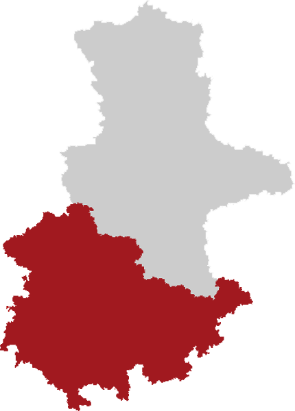 Map Southern LutherCountry